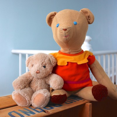 Bringing Life Back to Childhood Toys {Repairing a Teddy Bear}