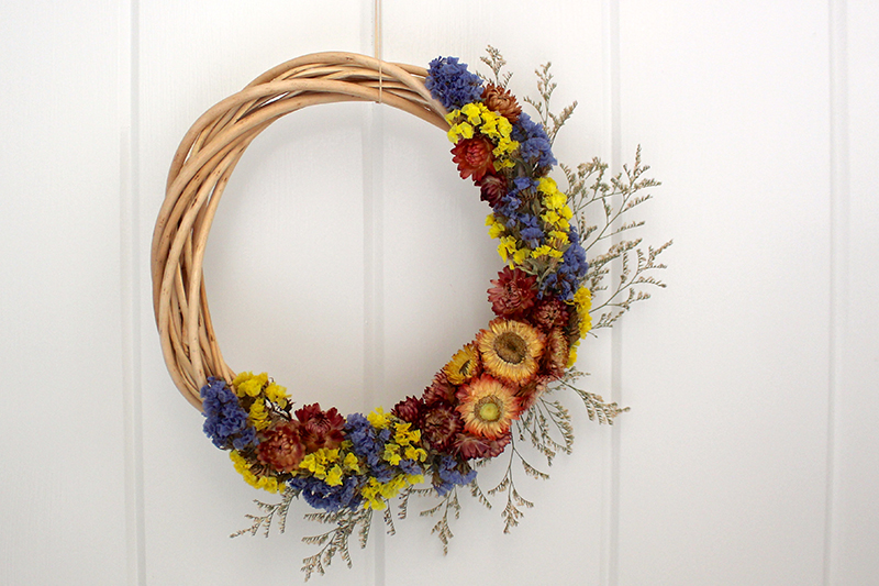 Dried Flower Wreath Life At Cloverhill