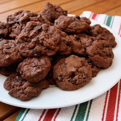 Double Chocolate Chip Mint Cookies