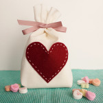 DIY Muslin Valentine's Day Treat Bags