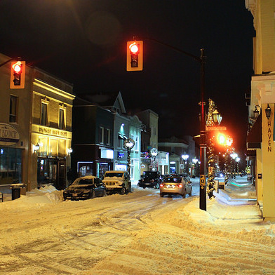 Our Christmas Date on Main Street Newmarket {Small Town Ontario}