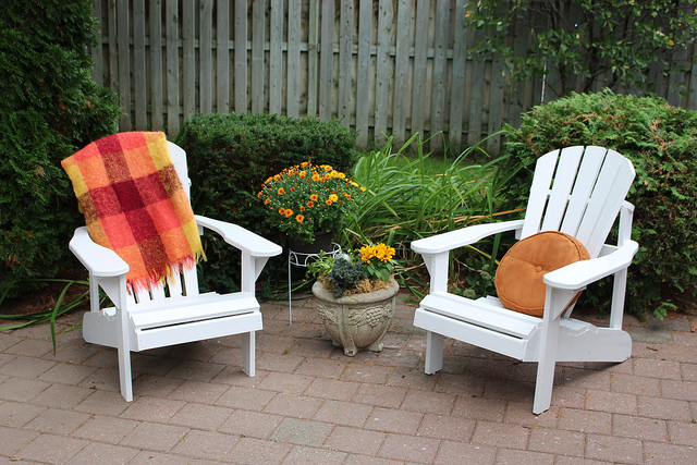 Outdoor Chairs Get Freshened Up with Behr Marquee Exterior Paint