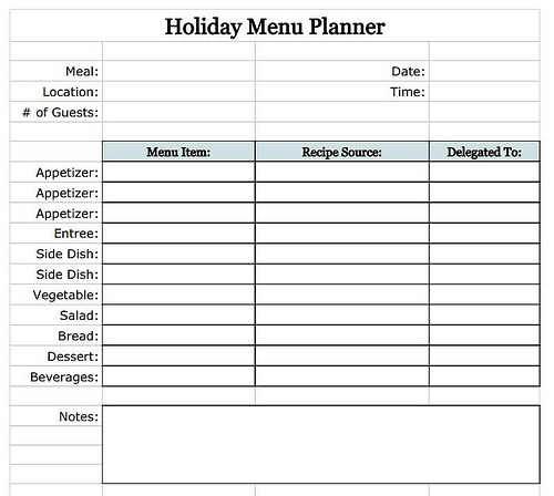 online-holiday-planner-holiday-menu-planner