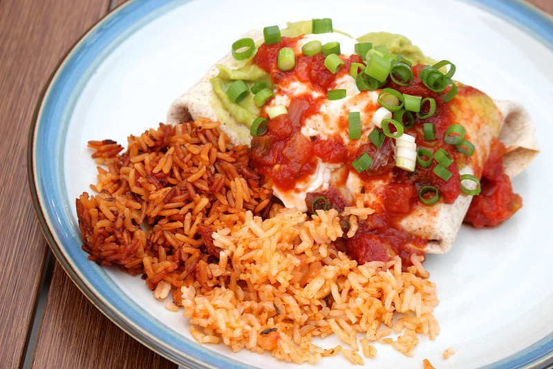 Sweet Potato Bean Burritos With Spanish Rice Life At Cloverhill