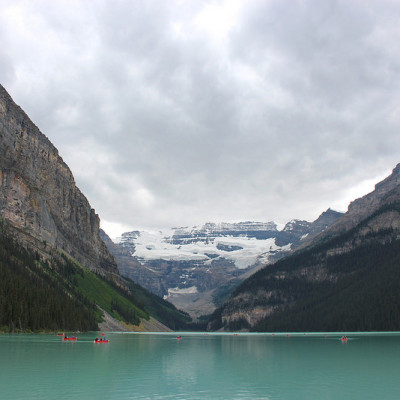 Hiking in Lake Louise, Alberta