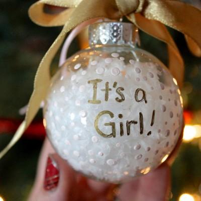 Christmas Ornament Gender Reveal