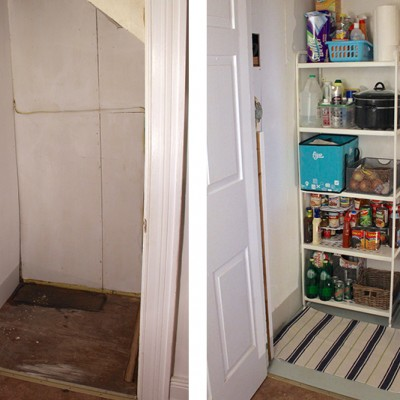 Creating a Pantry in our Basement Stairwell