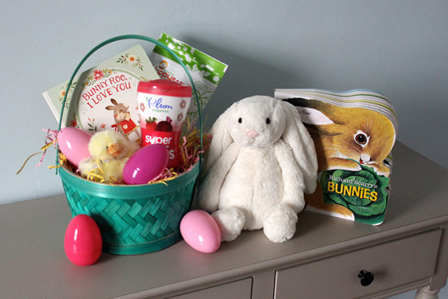 Babys first easter basket life at cloverhill babys first easter basket ideas negle Choice Image