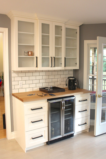 white-kitchen-beverage-station