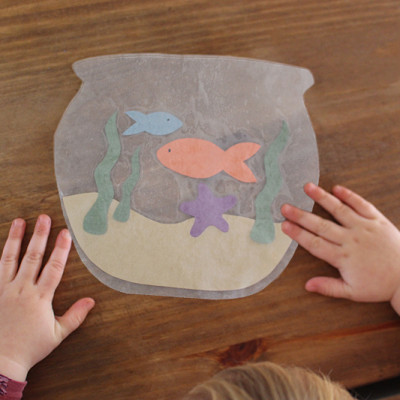 Wax Paper Fish Bowl Kids Craft {Video}