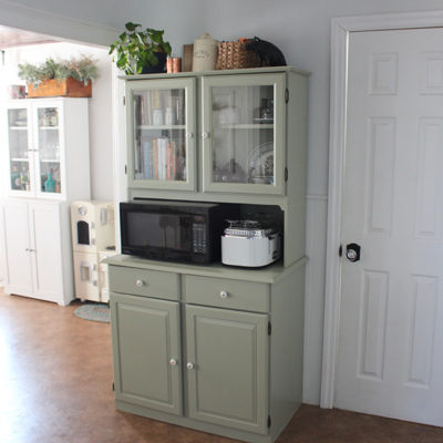 Farmhouse Kitchen Hutch Makeover