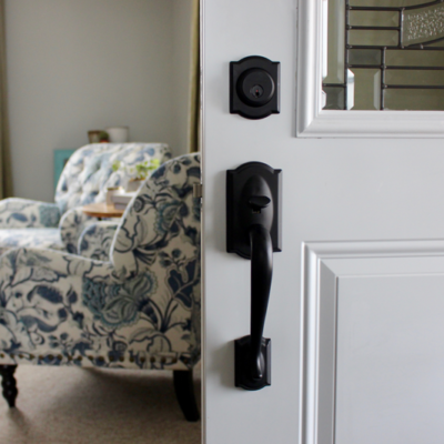 Our New Exterior Door Hardware + Schlage Giveaway!