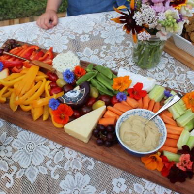 Edible Flowers: How to Make a Charcuterie Board with Edible Flowers