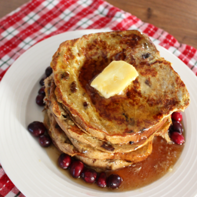 Homemade Cinnamon Raisin Bread French Toast (+ Hamilton Beach Dough & Bread Maker GIVEAWAY!)