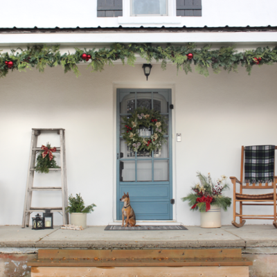 Our Christmas in the Countryside {Holiday Front Porch Series}