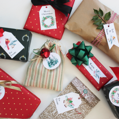 Woodland Christmas Gift Tags with Canon PIXMA Printer {FREE PRINTABLE}