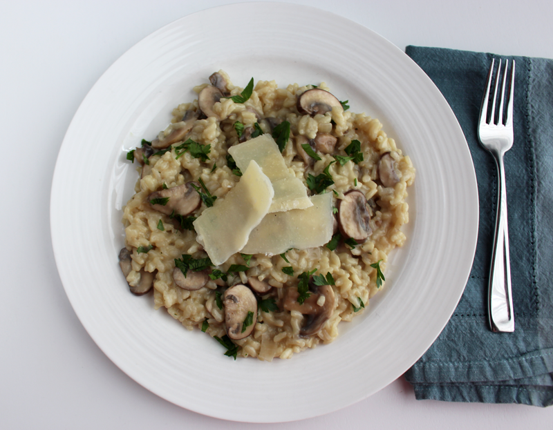 Creamy Mushroom Parmesan Risotto