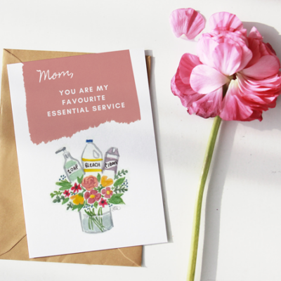 FREE Mothers Day Card for COVID-19 {Printable & eCard Versions)