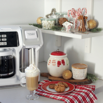 Christmas Coffee Bar with Hamilton Beach FlexBrew (+ GIVEAWAY!)