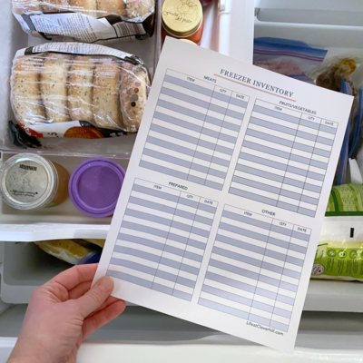 How to Make a Pantry & Freezer Inventory {Free Printable Lists}